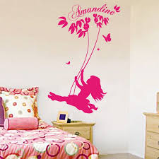 stickers chambre fille sticker personnalisable balançoire stickers center