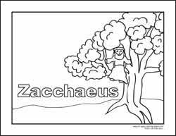 Coloring Pages Zaccheus