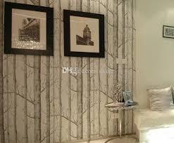 großhandel new birke muster vliestapete für wald wohnzimmer moderne designer tapete einfache schwarz weiß tapete rollen dianz 20 8 auf