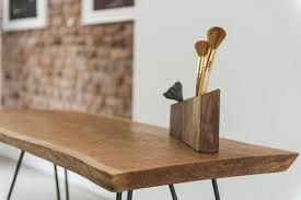 Rustic Office Decor Desk Accessories Organizer Wood Wooden Gift Pencil Holder