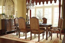 North Shore RECT Dining Room EXT Table 4 UPH Side Chairs 2 Arm