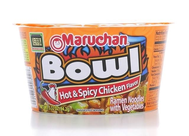 Maruchan Hot & Spicy Ramen Noodles - Chicken, 3.32oz