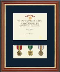 Certificate And Medal Display Frames Military Frame