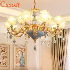modern gold ceiling chandelier lighting for living room