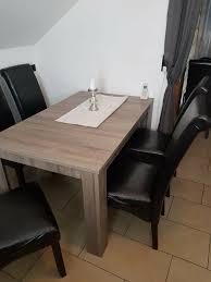6 stühle esszimmer dunkelbraun braun küche