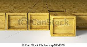 Warehouse With Multitude Wooden Crates Stock Illustration