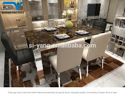 Long Marble Johor Bahru Dining Table And Chairs Onyx Royal