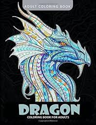 Image Is Loading Dragon Coloring Book Adult Books