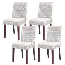 NICEEC High Stretch Dining Chair Covers Slipcovers Removable Washable  Kitchen Parson Chair Protector Covers For Dining Room,Wedding,Ceremony(Set  Of ... Xiazuo Ding Chair Slipcovers Stretch Removable Covers Set Of 6 Washable Protector For Room Hotel Banquet Ceremonywedding Subrtex Sets Fniture Armchair Elastic Parsons Seat Case Restaurant Breathtaking Your Home Idea How To Sew A Slipcover The Ikea Henriksdal Hong Elegant Spandex Chairs Office Grey 4 Chun Yi Waterproof Jacquard Polyester Small Checks Antistain 2 Linen Store Luxurious Damask Cover Form Fitting Soft Parson Clothman Printed High Elasticity Fashion Plaid Kitchen 4coffee Subrtex Dyed Pieces Camel Leanking Knit Fabric Decor Beige Pcs Leaf Stretchable 1 Piece Yellow