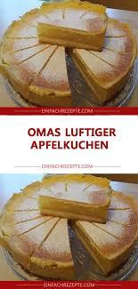 omas luftiger apfelkuchen