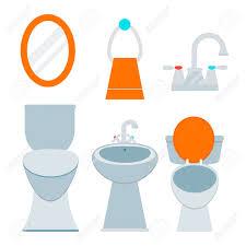 badezimmer zimmer ausrüstung symbol
