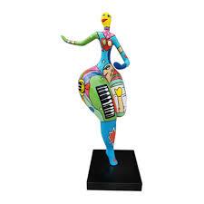modern figur statuen skulpturen abstrakte statue dekoration wohnzimmer deko neu