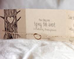 Tying The Knot Save Date Tie Invitation Rustic Tree With