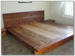 Rustic Wood Platform Bed Idea Affordable Regarding 16