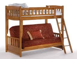 and day cinnamon twin over futon bunk bed in medium oak