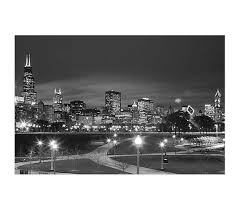Chicago Black And White Poster Dorm Room Products College Supplies