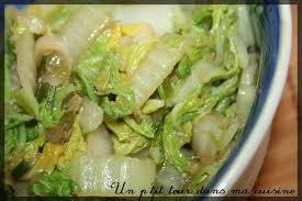 cuisiner le chou chinois cuit p chou chinois sauté au wok un p tour dans ma cuisine