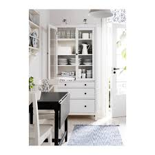 Ikea Hemnes Linen Cabinet Dimensions by Hemnes Glass Door Cabinet With 3 Drawers White Stain Avail In