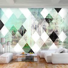 vlies fototapete geometrish abstrakt grün beton tapete wandbilder wohnzimmer ebay