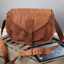 vintage leather saddle bag large by vida vida notonthehighstreet com