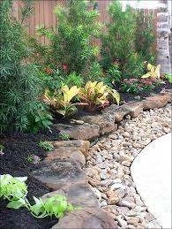 Rock Beds Landscaping Rustic Flower With Rocks In Front Of House Ideas 6 Desert