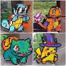 Halloween Perler Bead Templates by Halloween Squirtle Charmander Bulbasaur Pikachu Pokémon