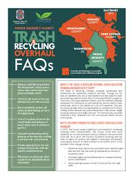 Baltimore County Christmas Tree Pickup Schedule by Prince George U0027s County Trash U0026 Recycling Overhaul Camp Springs