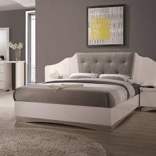 Coaster Alessandro Queen Low Profile Bed with Upholstered Panel