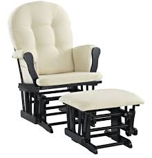 Angel Line Windsor Glider And Ottoman Cushion Set, Black With Beige