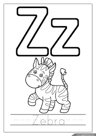 Zebra Coloring Page Alphabet Missive Of The Z