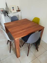 Solid Oak Dining Table And 4 Eames Chairs   In Taunton, Somerset ... Minimal Ding Rooms That Offer An Invigorating New Look New York Herman Miller Eames Chair Ding Room Modern With Ceiling Eatin Kitchen With Rustic Round Table Midcentury Chairs Hgtv Senarai Harga Ff 100cm Viera Solid Wood 4 Shop Vecelo Home Chair Sets Legs Set Of Eames Youtube Biefeld Besuchen Sie Pro Office Vor Ort Room Progress Antique Meets Stevie Storck Modern Fniture Uk Canada For Style By Stang 5pcs Tempered Glass Top And Pvc Leather Saarinen Design Within Reach Buy Midcentury Online At