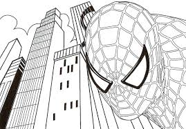 Coloring Page Spider Man Pages Spiderman Pdf Super Hero