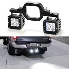 3X3 LED Pods W/ Backup Reverse Tow Hitch Brackets For Offroad 4x4 ...