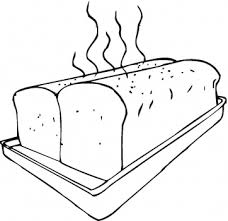 Loaf Of Bread Coloring Page Free Pages Clip Art