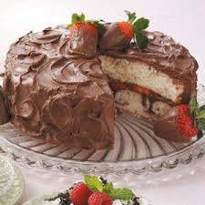 Chocolate Covered Strawberries Cake Recipe