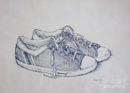 Vintage Tennis Shoes Drawing By Philip Jones
