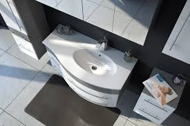 badmöbel set 5tlg becken rechts 110cm grau weiß mio