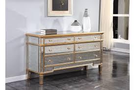 dresser mirrors florentine antique mirrored 6 drawer dresser in