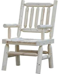Wooden Chairs Rustic Style Oversized Patio Furniture With Wide Space