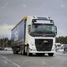 100 Volvo Truck Center LIETO FINLAND NOVEMBER 14 2015 Unidentified Driver Takes