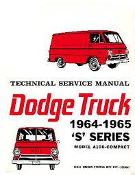 100 1964 Dodge Truck OEM Repair Maintenance Shop Manual Bound For A100 Van