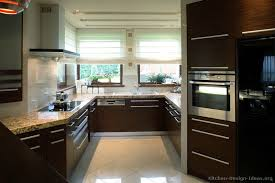 Popular Dark Wood Modern Kitchen Cabinets Kitchens