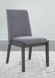 100 Side Dining Chairs Product Ashley Besteneer Dark Gray UPH Chair Set Of 2 On Sale