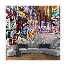 jinfangbz tapete fototapete 3d effekt gekritzelpersönlichkeitskunst wandbild wandtapete hauptdekorationen für wohnzimmer