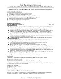 100 Resume Summary Examples Entry Level Downloadable Event Planner Objective Event Planner
