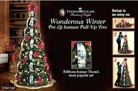 Wondrous Winter Lit Pull Up Tree Christmas Trees Decorated Pre 6 Foot