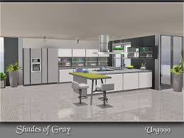 Shades Of Gray Kitchen By Ung999 For Sims 3