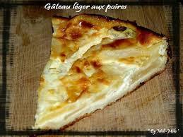 dessert aux poires leger recette de gâteau léger aux poires