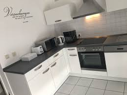 küche l form inkl geräten weiß grau