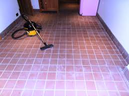 cleaning and removing grout haze from a quarry tiled floor in